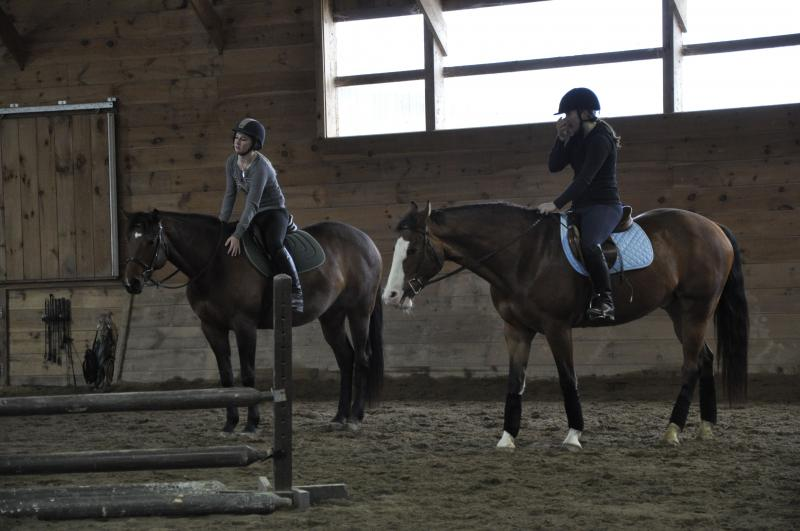 Indoor arena horse back riding lessons burnt meadow stables